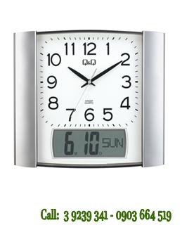 Đồng hồ treo tường 0257K502Y chính hãng Q&Q Citizen Nhật