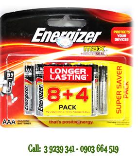 Pin đũa AAA 1,5V Energizer E92-BP12 Max Power Seal chính hãng Made in Singapore