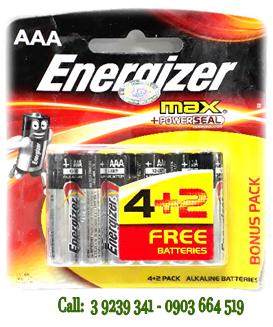 Pin đũa AAA 1,5V Energizer E92BP6 Max Power Seal chính hãng Made in Singapore