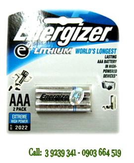 Pin Lithium Ultimate Energizer L92 BP2 size AAA 1,5V chính hãng Energizer USA