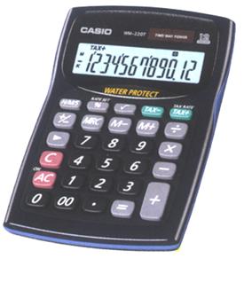 Máy tính Casio WM-220T chính hãng có tính năng Chống Nước - Chống Bụi
