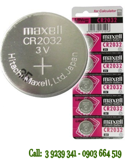 Pin Maxell CR2032 lithium 3V chính hãng Maxell Nhật