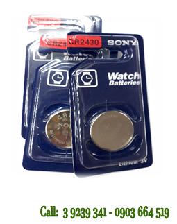 Pin 3v Lithium Sony CR2430 chính hãng ( Vỉ 1 viên)