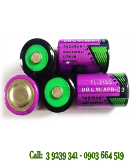 Pin Tadiran TL-2150 lithium 3.6V size 1/2AA - 1000mAh nuôi nguồn PLC/CNC chính hãng Tadiran Israel