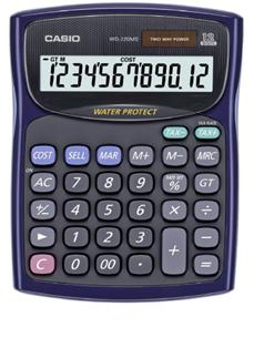 Máy tính Casio WD-220MS-BU chính hãng Casio Nhật