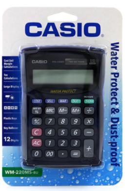 Casio WM-220MS, Máy tính tiền để bàn bỏ túi Casio WM-220MS chính hãng| CÒN HÀNG