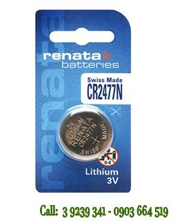 Pin đồng xu 3v Lithium Renata CR2477N chính hãng Xuất Xứ Thụy Sĩ