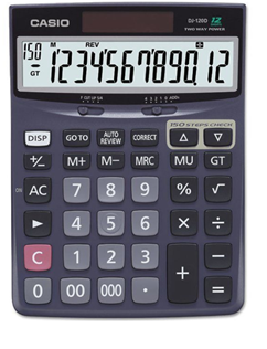 Máy tính tiền Casio DJ-120D- có phím 000 | hàng chính hãng