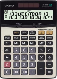Máy tính tiền Casio DJ-220D, có chức năng kiểm tra (check) phép tính | HẾT HÀNG
