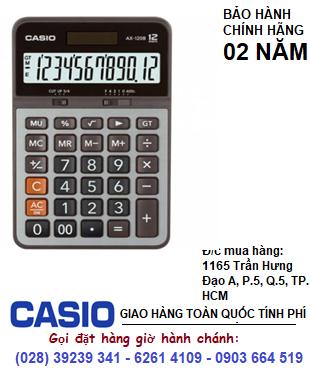 Casio AX-120B, Máy tính tiền Casio AX-120B loại 12 số Digits chính hãng| CÒN HÀNG