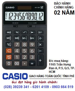 Casio AX-12B, Máy tính tiền Casio AX-12B loại 12 số Digits chính hãng| CÒN HÀNG