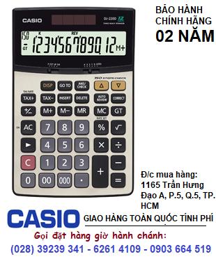 Casio DJ-220D, Máy tính tiền Casio DJ-220D loại 12 số Digits chính hãng