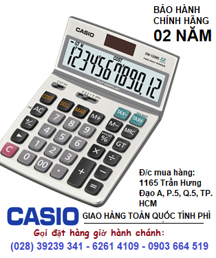 Casio DW-120MS, Máy tính tiền Casio DW-120MS loại 12 số Digits có PHÍM GTGT | ĐẶT HÀNG TRƯỚC