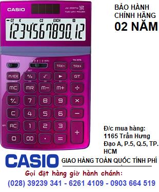 Casio JW-200TW-PK, Máy tính tiền Casio JW-200TW-PK loại 12 số Digits chính hãng| CÒN HÀNG