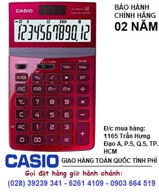 Casio JW-200TV-RD, Máy tính tiền Casio JW-200TV loại 12 số Digits chính hãng| ĐẶT HÀNG TRƯỚC