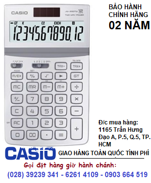 Casio JW-200TV-WE, Máy tính tiền Casio JW-200TW-WE loại 12 số Digits chính hãng| ĐẶT HÀNG TRƯỚC