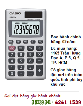 Casio HS-8VA, Máy tính tiền Casio HS-8VA loại 8 số Digits chính hãng| HẾT HÀNG