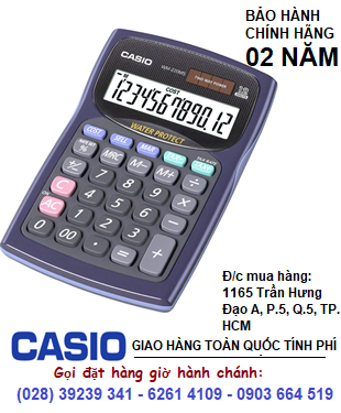 Casio WD-220MS-BU, Máy tính tiền Casio WD-220MS-BU loại 12 số Digits chính hãng  CÒN HÀNG
