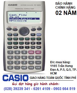 Casio FC-100V, Máy tính tài chánh Casio FC-100V | HẾT HÀNG-Sử dụng Texas BAII PLUS tốt hơn