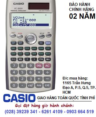 Casio FC-200V, Máy tính tài chánh Casio FC-200V | HẾT HÀNG-Sử dụng Texas BA II Plus thay thế tốt hơn