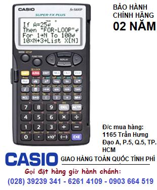 Casio FX-5800P, Máy tính Casio Khoa học Lập trình FX-5800P | CÒN HÀNG - tặng Cáp kết nối 2 máy & CT Lập trình