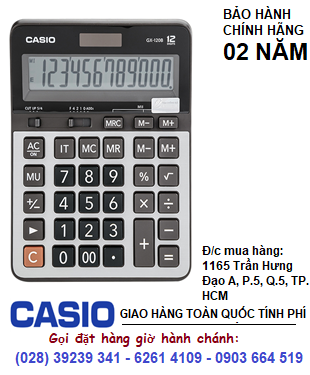 Casio GX-120B, Máy tính sử dụng năng lượng mặt trời SOLAR Casio GX-120B 12 số| CÒN HÀNG