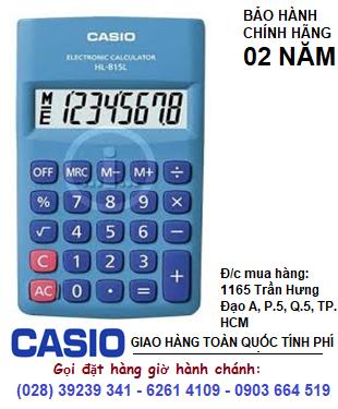 Casio HL-815-BU, Máy tính Casio HL-815-BU loại 8 số DIgits chính hãng| ĐẶT HÀNG