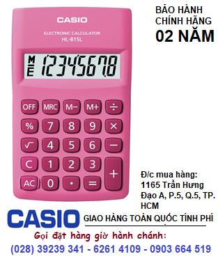 Casio HL-815-PK, Máy tính tiền Casio HL-815-PK loại 8 số DIgits chính hãng| ĐẶT HÀNG