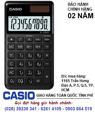 Casio SL-1000SC-BK, Máy tính tiền Casio SL-1000SC-BK loại 10 số Digits chính hãng| ĐẶT HÀNG