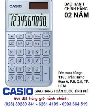 Casio SL-1000SC-BU, Máy tính tiền Casio SL-1000SC-BU loại 10 số Digits chính hãng| ĐẶT HÀNG