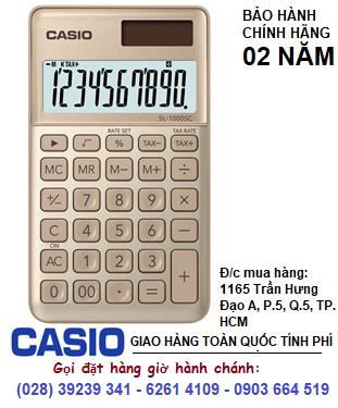 Casio SL-1000SC-GD, Máy tính tiền Casio SL-1000SC-GD loại 10 số DIgits chính hãng| ĐẶT HÀNG