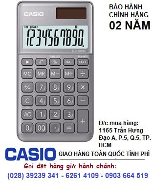 Casio SL-1000SC-GY, Máy tính tiền Casio SL-1000SC-GY loại 10 số Digits chính hãng| ĐẶT HÀNG