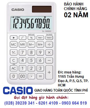 Casio SL-1000SC-WE; Máy tính tiền Casio SL-1000SC-WE loại 10 số DIgits chính hãng| ĐẶT HÀNG