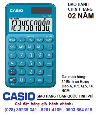 Casio SL-310UC-BU, Máy tính tiền Casio SL-310UC-BU loại 10 số Digits chính hãng| ĐẶT HÀNG