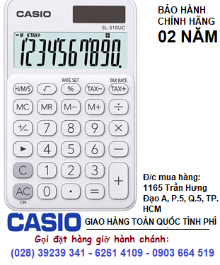 Casio SL-310UC-WE, Máy tính tiền Casio SL-310UC-WE loại 10 số Digits chính hãng| ĐẶT HÀNG
