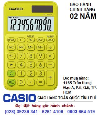 Casio SL-310UC-YG, Máy tính tiền Casio SL-310UC-YG loại 10 số Digits chính hãng| ĐẶT HÀNG