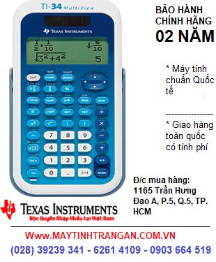 TI-34 MULTIVIEW, Máy tính khoa học Texas Instruments TI-34 MULTIVIEW  dành cho Học Sinh-Sinh Viên-Giáo Viên | CÒN HÀNG