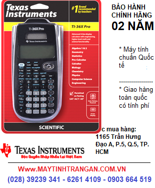 TI-36X PRO, Máy tính khoa học lập trình Texas Instruments TI-36X PRO dành cho Học Sinh-SInh viên-Giáo Viên | CÒN HÀNG