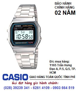 Casio A158WA-1DF; Đồng hồ điện tử Casio A158WA-1DF chính hãng| Bảo hành 2 năm