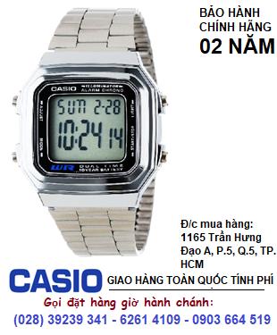 Casio  A178WA-1ADF; Đồng hồ điện tử Casio A178WA-1ADF chính hãng| Bảo hành 2 năm