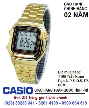 Casio A178WGA-1ADF, Đồng hồ điện tử Casio A178WGA-1ADF chính hãng| Bảo hành 2 năm