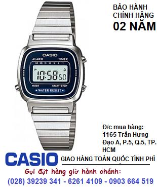 Casio LA670WA-1AVDF; Đồng hồ điện tử Nữ Casio LA670WA-1AVDF chính hãng|Bảo hành 2 năm