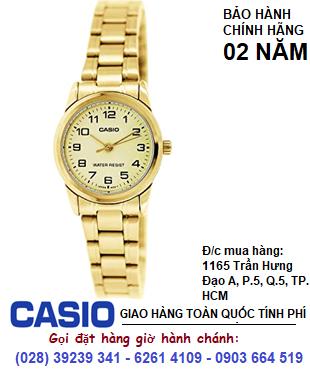 Casio  LTP-V001G-9BUDF; Đồng hồ Nữ Casio LTP-V001G-9BUDF chính hãng| Bảo hành 2 năm