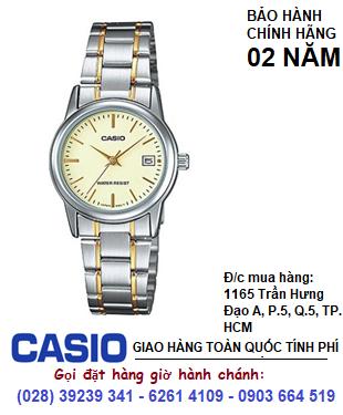 Casio LTP-V002SG-9AUDF; Đồng hồ Nữ Casio LTP-V002SG-9AUDF chính hãng| Bảo hành 2 năm