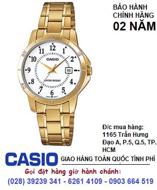 Casio LTP-V004G-7BUDF; Đồng hồ Nữ Casio LTP-V004G-7BUDF chính hãng| Bảo hành 2 năm
