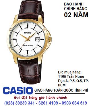 Casio LTP-V004GL-7AUDF; Đồng hồ Nữ Casio LTP-V004GL chính hãng| Bảo hành 2 năm