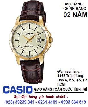 Casio LTP-V004GL-9AUDF, Đồng hồ Nữ Casio LTP-V004GL-9AUDF Chính hãng| Bảo hành 2 năm