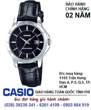 Casio LTP-V004L -1AUDF; Đồng hồ dây da Nữ Casio LTP-V004L -1AUDF| Bảo hành 2 năm