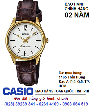 Casio LTP-V005GL-7BUDF; Đồng hồ Nữ Casio LTP-V005GL-7BUDF chính hãng| Bảo hành 2 năm
