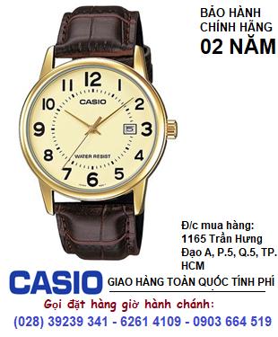 Casio  MTP-V002GL-9BUDF; Đồng hồ đeo tay Nam chạy kim Casio MTP-V002GL-9BUDF chính hãng| Bảo hành 2 năm